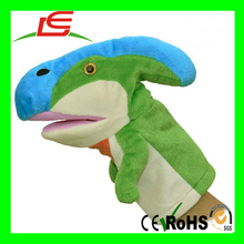 2016 Hot Sales Baby Doll Plush Hand Dinosaur Puppet