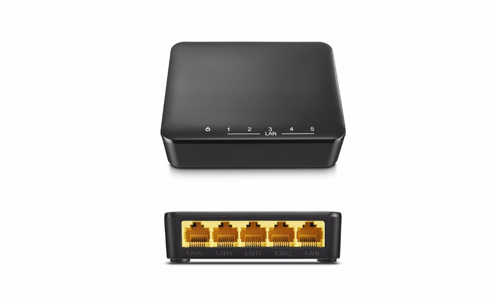 Best selling unmanaged 5-Port Desktop Switch with great price