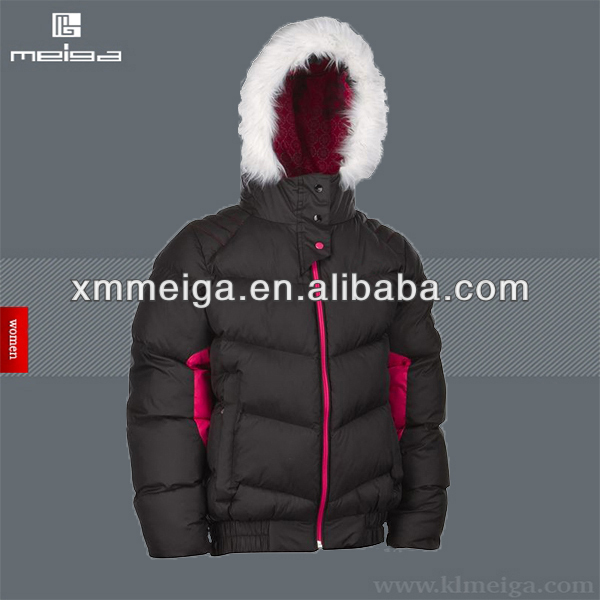 Women Ski Jacket With Fur Hood