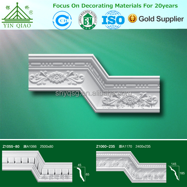 Fibrous plaster Ornamental custom crown cornice eaves