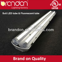 UL T8 fluorescent plastic cover led tube light fixture