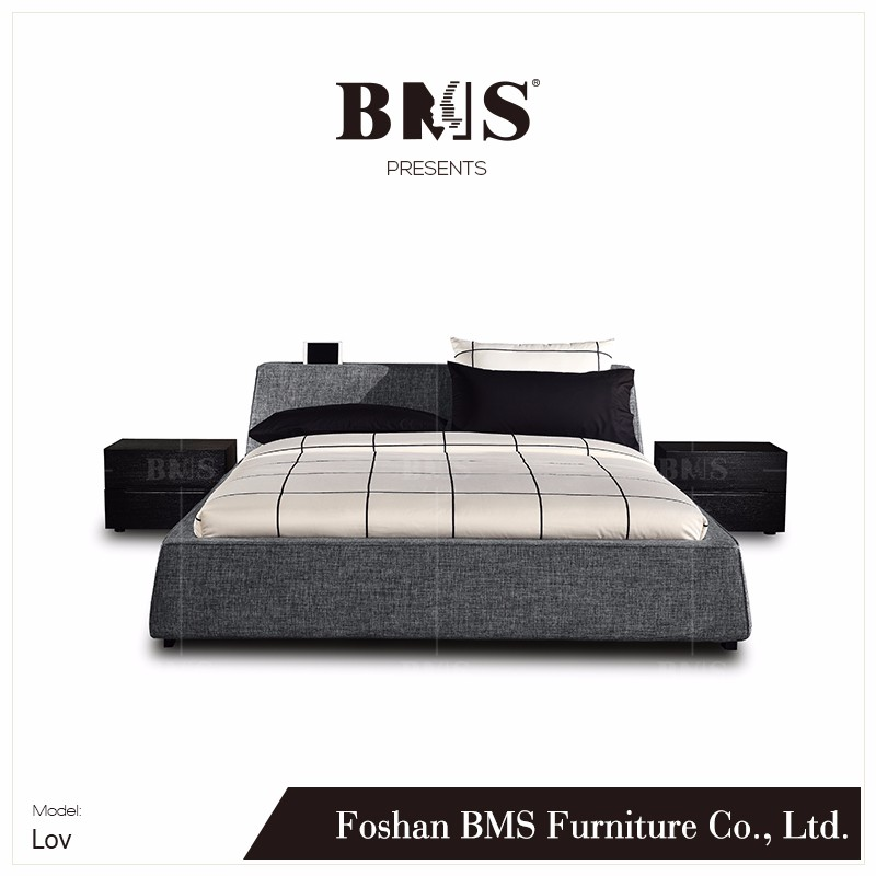 Youthful style ladder shape headboard double cot bed designs
