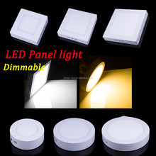 standard sizes panel led light 10W/15W/25W Round/Square Surface Mounted Dimmable Down light LED Ceiling Light