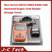 New Arrival OM123 OBD2 EOBD CAN Hand-held Engine Code Reader (Orange Color)