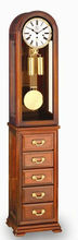 2013 Carved grandfather floor clock Play Westminster chime
