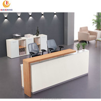 beauty salon wooden furniture office reception desk counter design