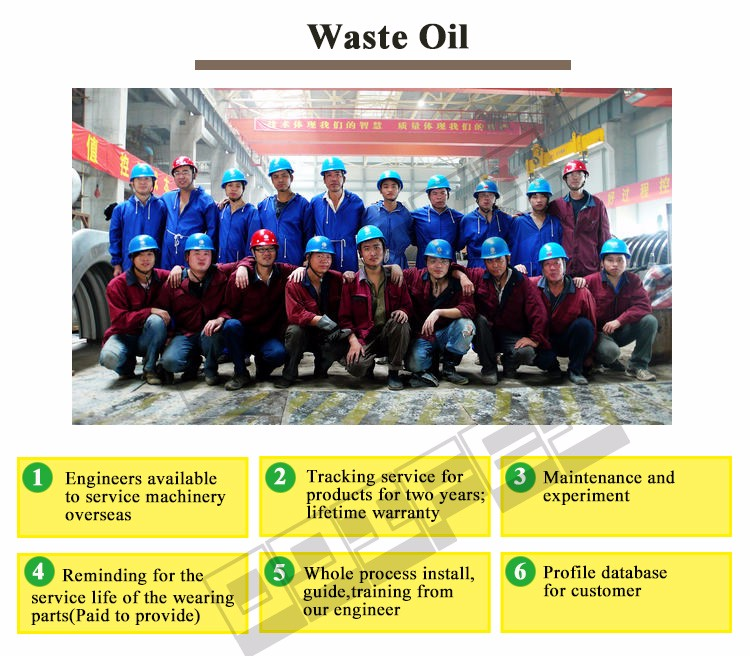 High profit national patent used engine oil recycling machine