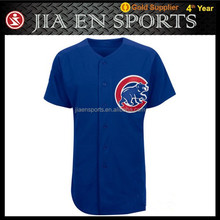 v neck youth 100% polyester blank custom dye sublimation baseball jersey pattern