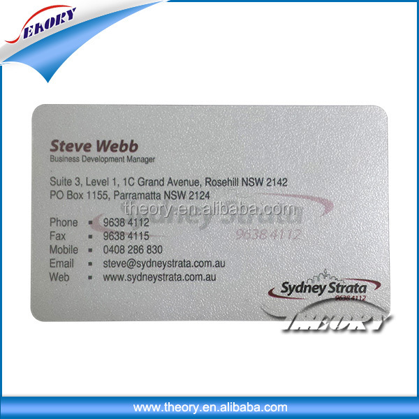 wholesale price high quality transparent plastic pvc business card white card for card printer