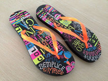 China oem women's slippers insole printing