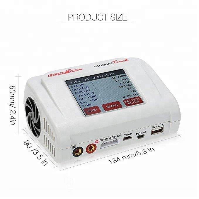 Original Ultra Power 100W UP100AC TOUCH Balance Charger for LiPo LiHV LiFe Lilon NiCd NiMh PB RC Battery