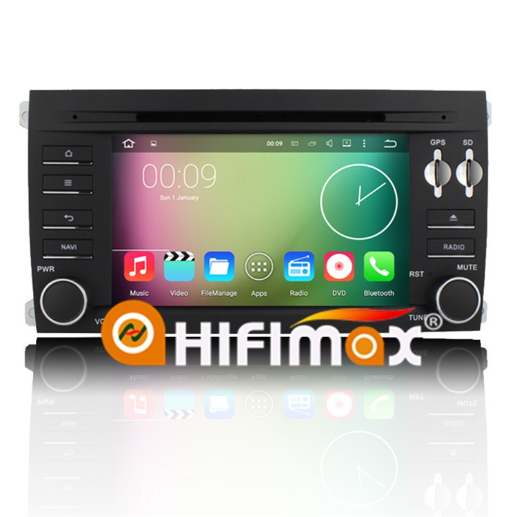 HIFIMAX Android 5.1.1 car radio dvd gps navigation system for Porsche Cayenne WITH Capacitive screen+HD1024*600 Resolution