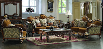 Solid Wood Traditional Classic Victorian Luxurious Sofa