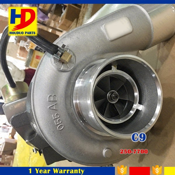 Water Cooling Turbo C9 No 250-7700 For 320D Excavator Turbocharger Parts