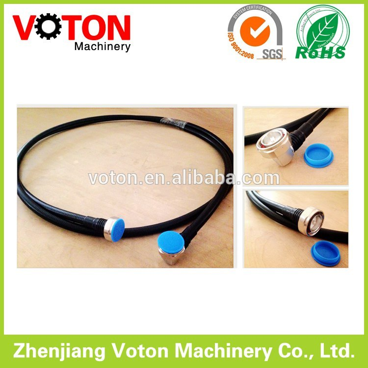"Zhenjiang Jumper 1/2"" superflex Cable , 7/16 Din Male Straight to 7/16 Din Male Right angle connector"