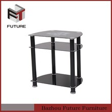 Cheapest hot sale black lacquered shelves tv stand home furniture