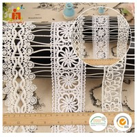 China suppliers water soluble embroidery ecclesiastical cotton lace trim wholesale