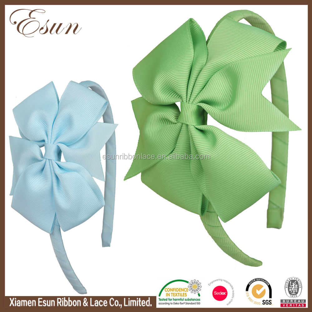 Wholesale vogue girls infant sweet hair bows top baby headbands