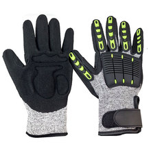 NMSafety Anti Vibration TPR Chips On Back Original Impact Protection Mechanics Glove