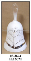 Hand Blown White Glass Christmas Glass Bell for Decoration