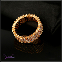micro pave jewelry rings dubai fashion 18k gold crystal finger rings