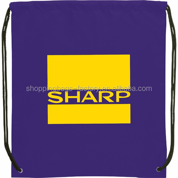 Sportsman drawstring bag with pockets