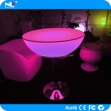LED bar table cocktail table led furniture multicolor LED plastic cocktail tables for party/event/nightclub