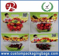 Clear Plastic Fruit Laminated Bunch Bag Slider Zipper Bags Apple / Grape Laminated Bunch Bag