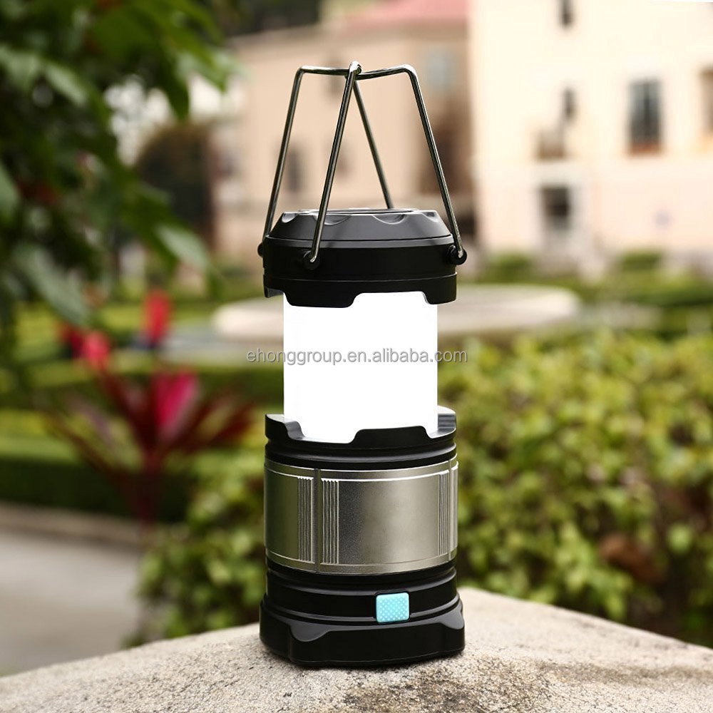 three power sources portable collapsible rechargeable power bank flashLights bright LED camping lantern
