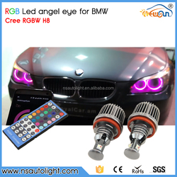 Newsun new car accessories products 12v color changing e60 lci led angel eyes da imagem for bmw m5 e60 e61