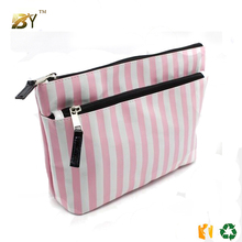 promotional cosmetic bag cosmetic pouch / makeup bag case toiletry bag / handing fashion red satin cosmetic bag