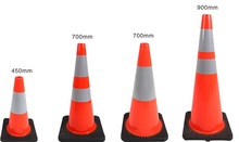 Black Pvc Cone/Reflective Road Safety Cone