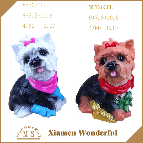 customized dog figurine resin crafts for home decor