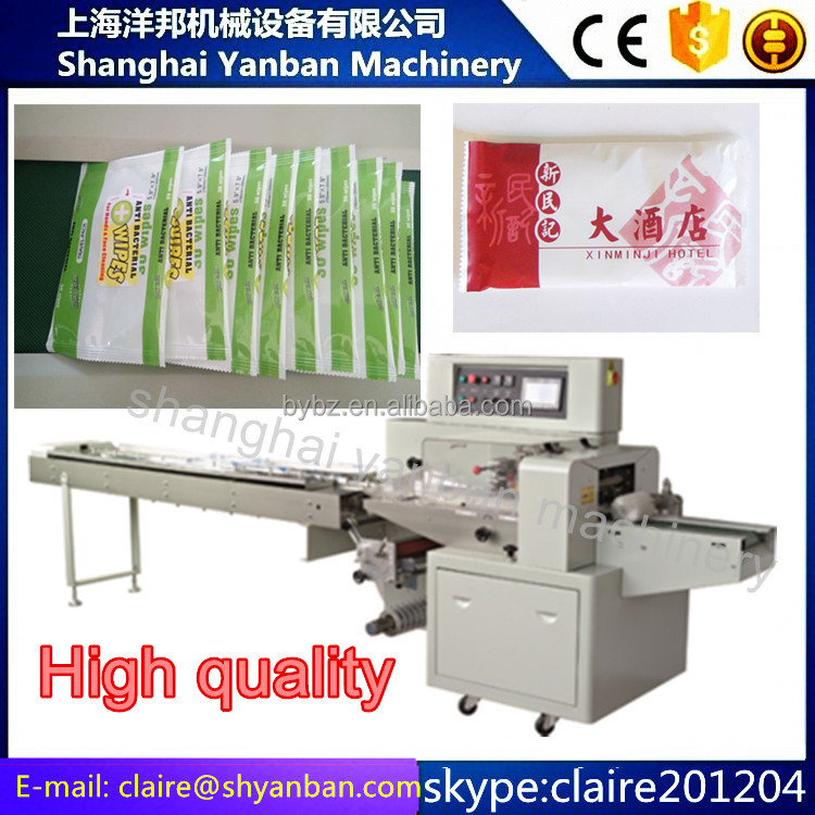 automatic Wet Towel horizontal Packing Machine price YB-250X