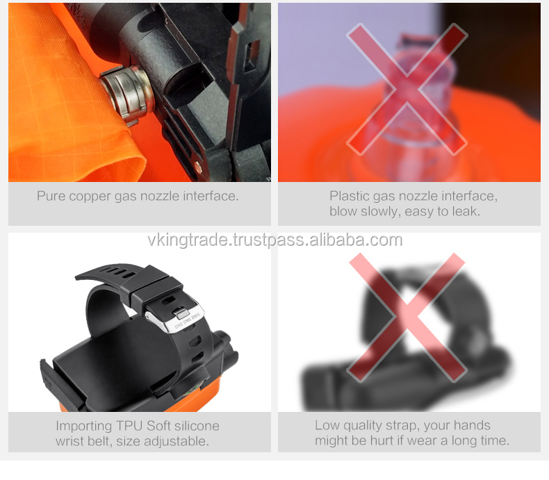 VKING Anti-drowning rescue strap bracelet help yourselves swimming diving lifesaving equipment