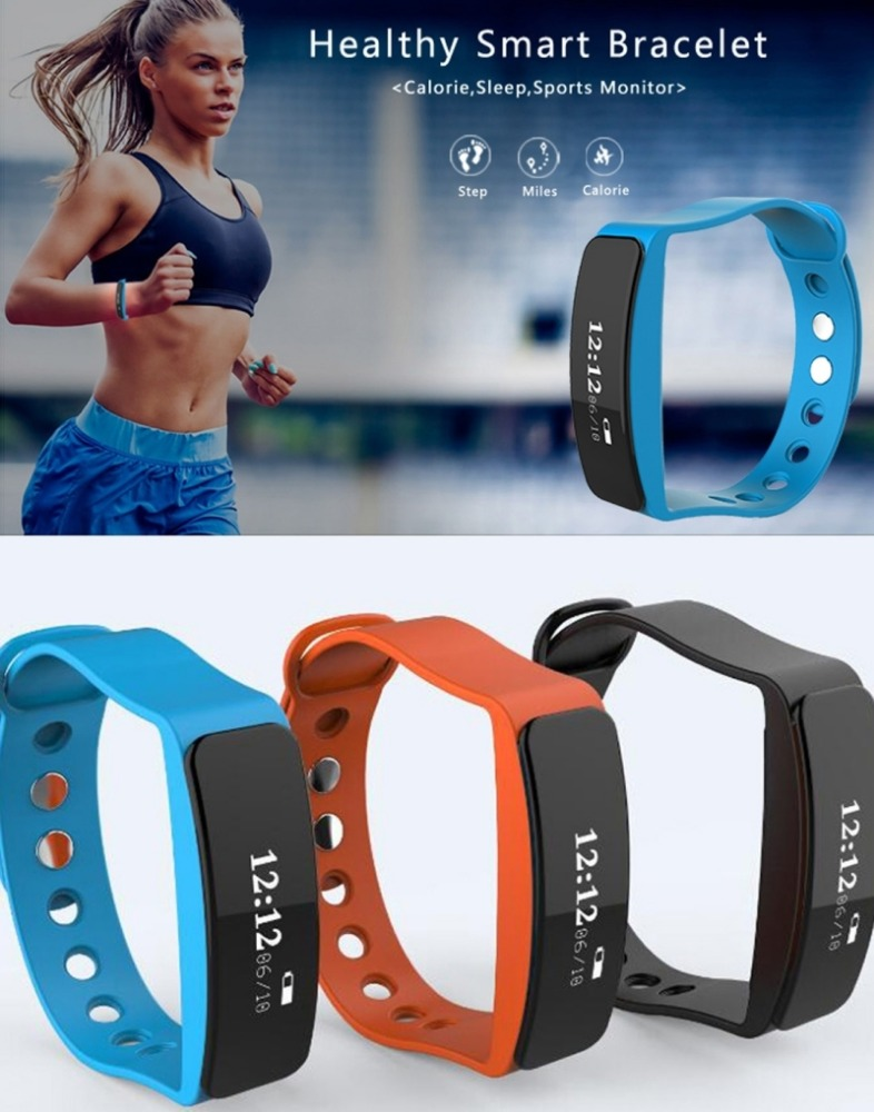 Smart Bracelet Wristband Sport Passometer Tracker Smart Bracelet Watch Alarm Clock Vibration Bluetooth Wristband for Android IOS
