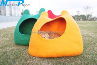 Pawyep Cats House Handmade Cat Bed Natural Wool Felt Comfy Cave for All Cats and Small Dogs Machine Washable