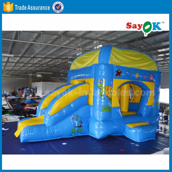 Kids mini inflatable bouncer combos for sale , inflatable bouncy castle with slide