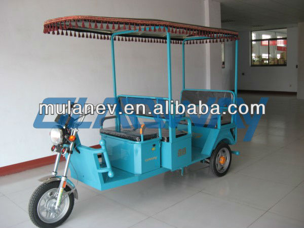 48V 650W e rickshaw with DC brushless rear axle motor