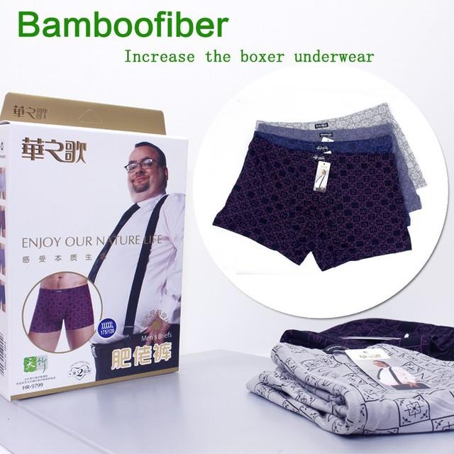 Hot Wholesale !100% Bamboo Top Quality 4XL 5XL 6XL Fashion Style PLUS SIZE Boxers Shorts Underwears Big Size Underwear Men