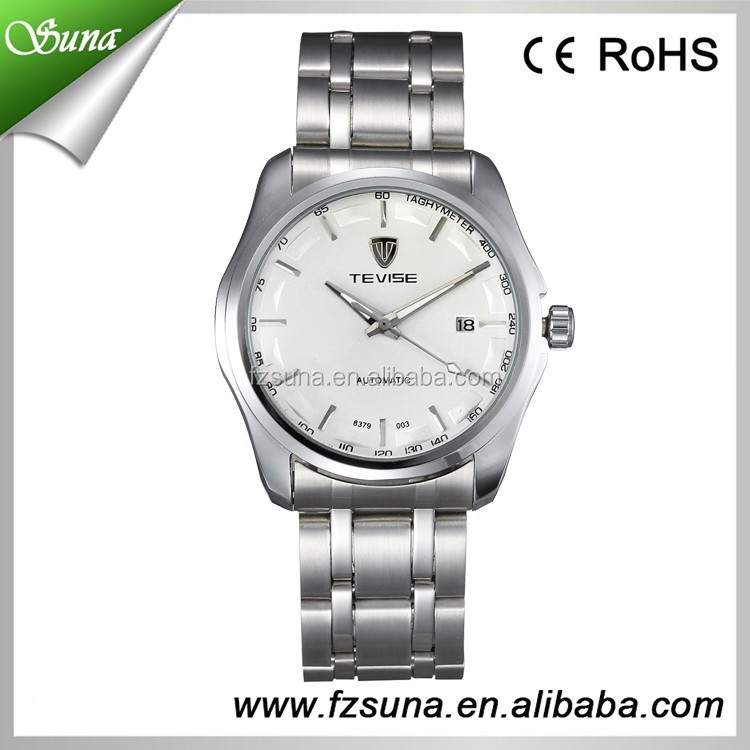 Custom Wholesale Stainless Steel Band Luxury Watches Men With OEM Mechanical Watch Steel
