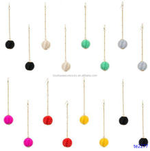 Round Wrapped Orb Oblong Chain Dangle Earring