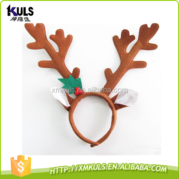 Christmas decorations masquerade tire reindeer antlers plastic party headband