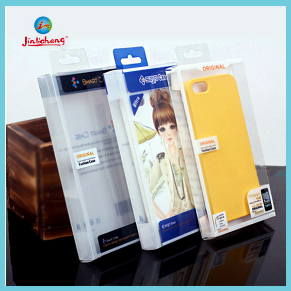 Phone case packaging clear plastic packaging box for iphone