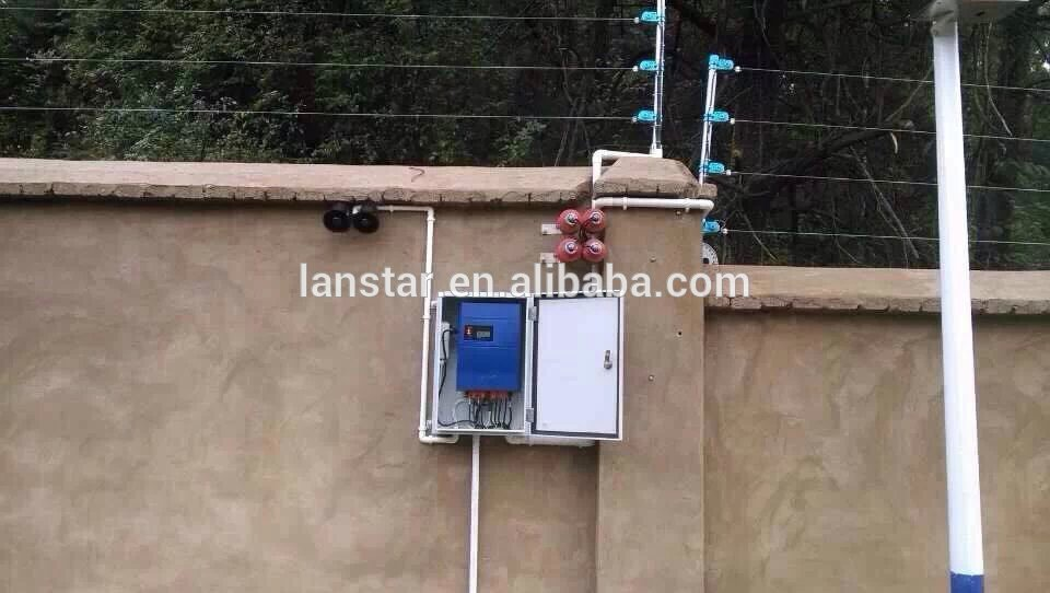 Home Garden Perimeter Security Alarm Equipment, Solar Panel Security Electric Power Fence Generator Factory From China