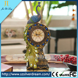 Environmental protection resins antique table centerpiece clock