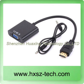 2014 Hot sell 1080P HD Male to VGA Audio & Video Cables