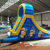 Funny Kids Minions Inflatable Pool Slide