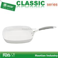 Aluminum non stick ceramic coated grill pan