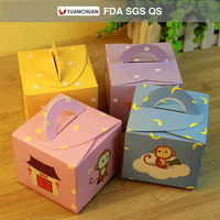 Custom color printed cartoon money pattern cake packing box